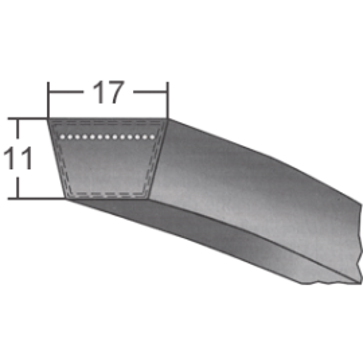 Klinový remeň 17x1400 Li/1440 Lw