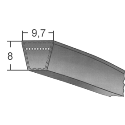 Klinový remeň SPZx785 La/772 Lw