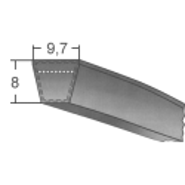Klinový remeň SPZx1250 La/1237 Lw