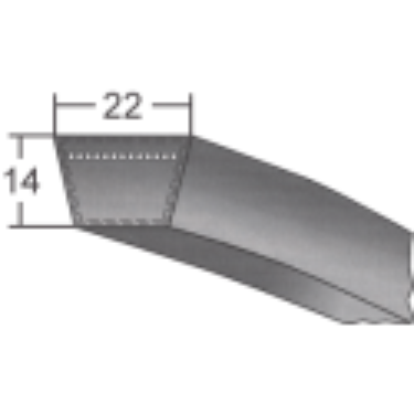 Klinový remeň 22x5000 Li/5050 Lw