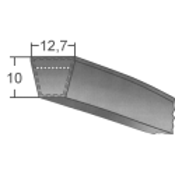 Klinový remeň SPAx1268 La/1250 Lw
