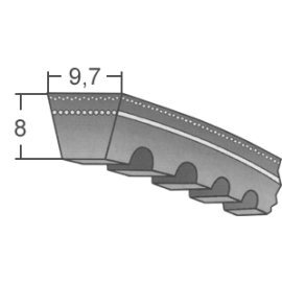 Klinový remeň XPZx800 Lw/813 La
