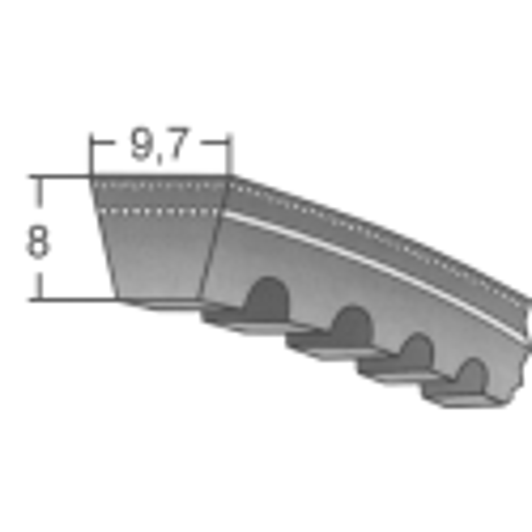 Klinový remeň XPZx1012 Lw/1025 La