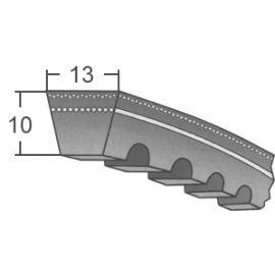Klinový remeň AVX13x850 La