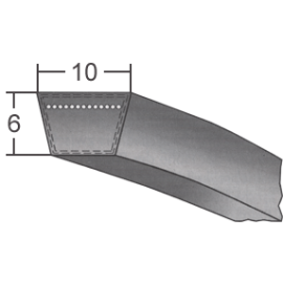 Klinový remeň 10x475 Li/497 Lw