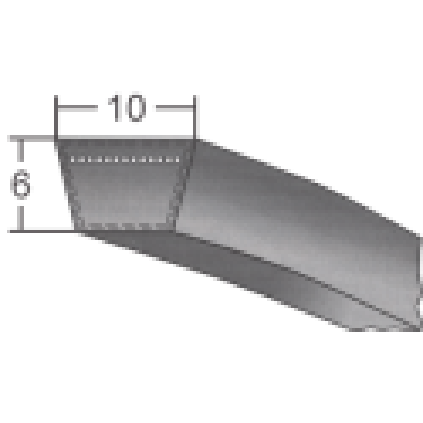 Klinový remeň 10x880 Li/900 Lw