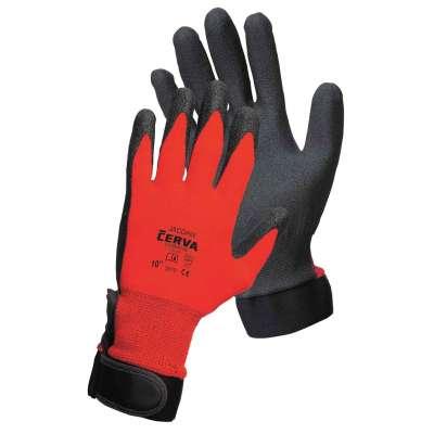 """Rukavice 10"""", XL, čierno-červené JACDAW, CERVA"""