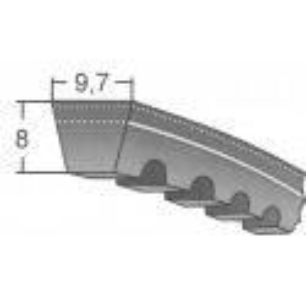 Klinový remeň XPZ 862 Lw/875 La / BANDO