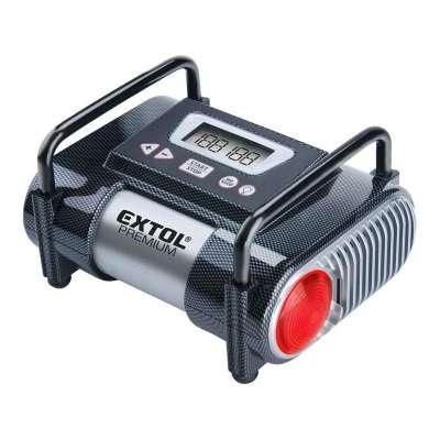 Kompresor do auta 12V, 10,3bar LCD a svetlo EXTOL 8864006