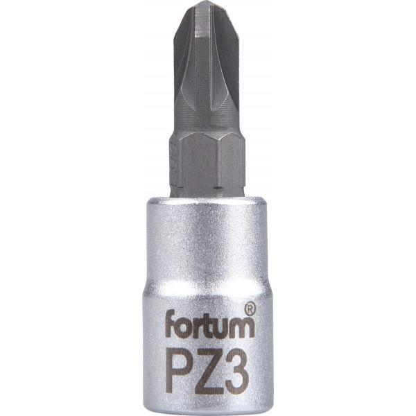 """Hlavica zástrčná 1/4"""" PZ3 krížový FORTUM 4701823"""