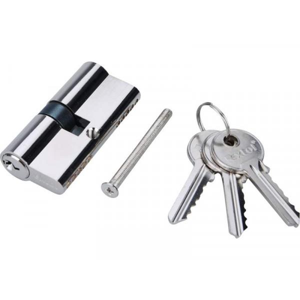 Vložka cylindrická poniklovaná 65 mm + 3x kľúč EXTOL 9401