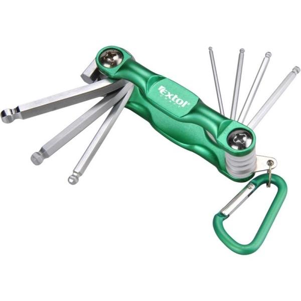 Kľúče imbusové s guľôčkou na skobe 7 ks EXTOL 66006