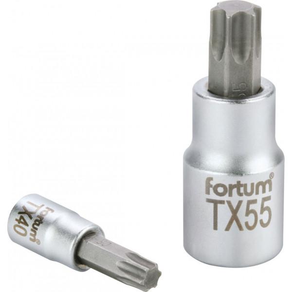 """Hlavica zástrčná 1/4"""" TX10 TORX FORTUM 4701720"""