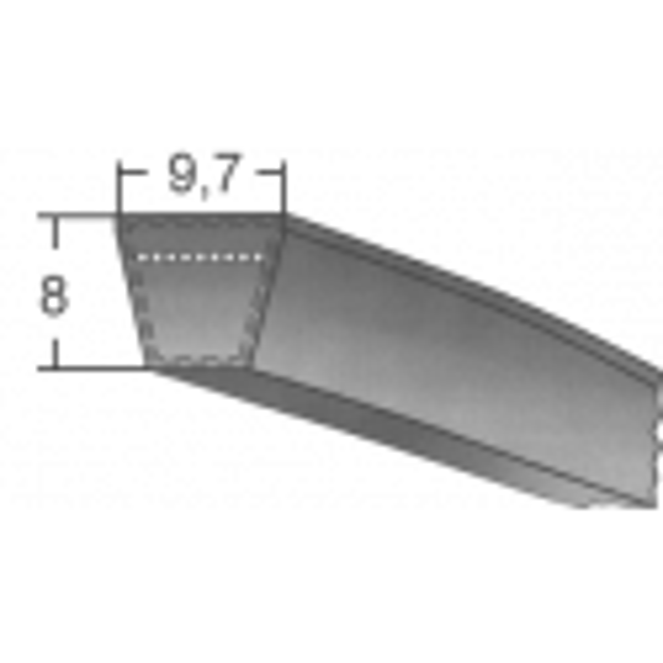 Klinový remeň SPZ 1263 La/1250 Lw BANDO