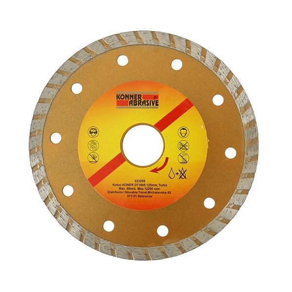 Diamantový kotúč Turbo + D71005 125mm KONER 223259