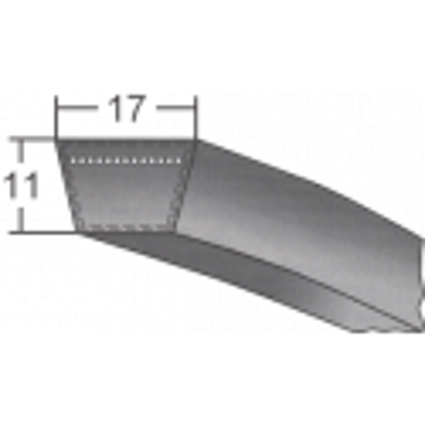 Klinový remeň 17X2500 Li/2540 Lw MAXBELT