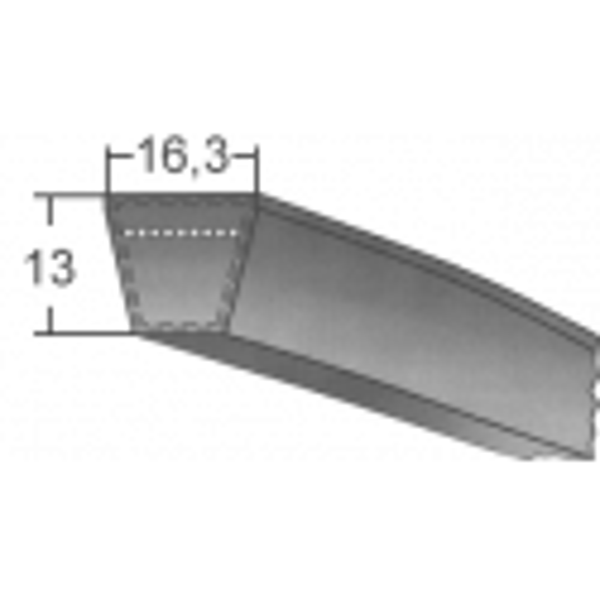 Klinový remeň SPB 2650 Lw/2672 La MAXBELT