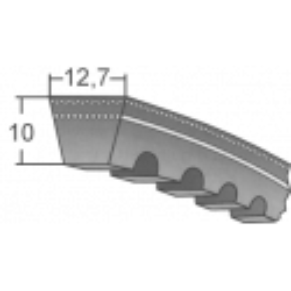 Klinový remeň XPA 1632 Lw/1650 La MAXBELT