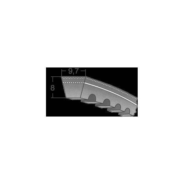Klinový remeň XPZ 1487 Lw/1500 La MAXBELT