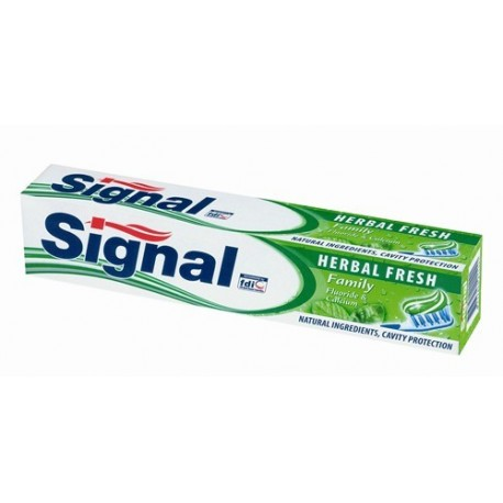 Signal Family Herbal Fresh zubná pasta s Fluoridom a Vápnikom 50ml