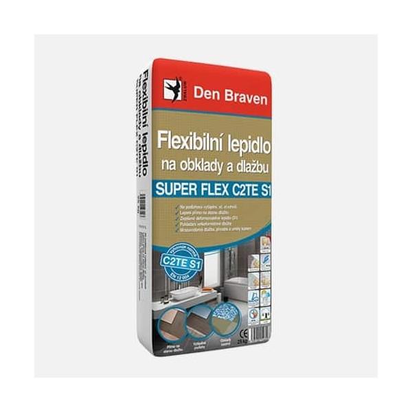 Flexibilné lepidlo na obklady a dlažbu SUPER FLEX C2TES1 DEN BRAVEN 57103QS1