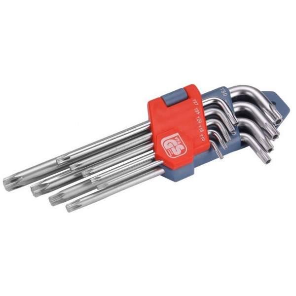 Sada kľúčov Torx EXTOL Premium zástrčné, Cr-V, 9ks, 6601