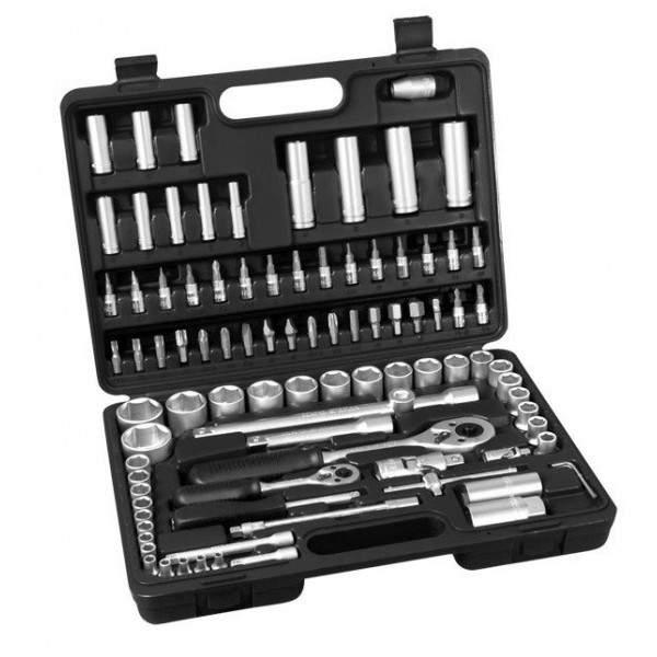 Nástrčné a zástrčné kľúče EXTOL Premium, sada 94ks, CrV, 65252