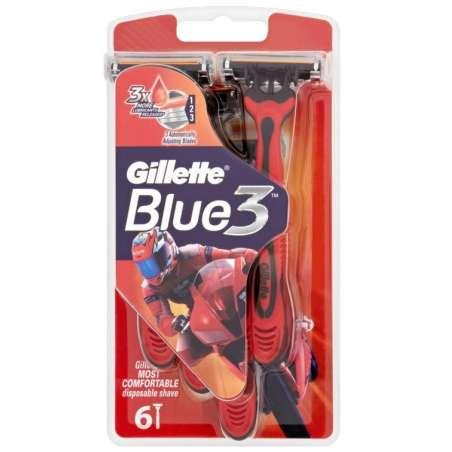 Gillette Blue 3 Jednorazový holiaci strojček s lubrikačným pásikom 6ks