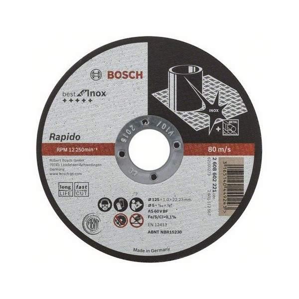 Rovný rezací kotúč BOSCH Best for Inox - Rapido Long Life, 2608602221
