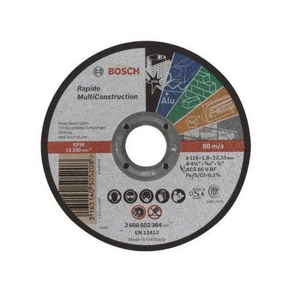 Rovný rezací kotúč BOSCH Rapido Multi Construction, 2608602384