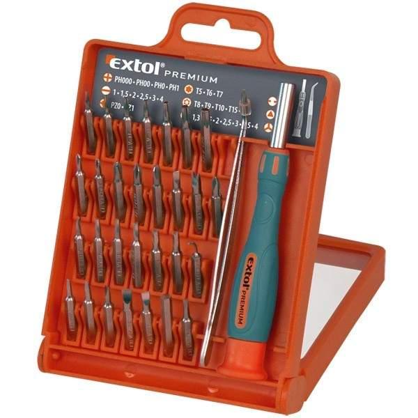 Hodinársky skrutkovač, magnetický držiak na bity, bity 32-dielna sada EXTOL 8819105